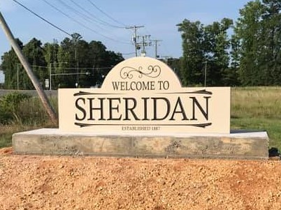 Welcome to Sheridan sign